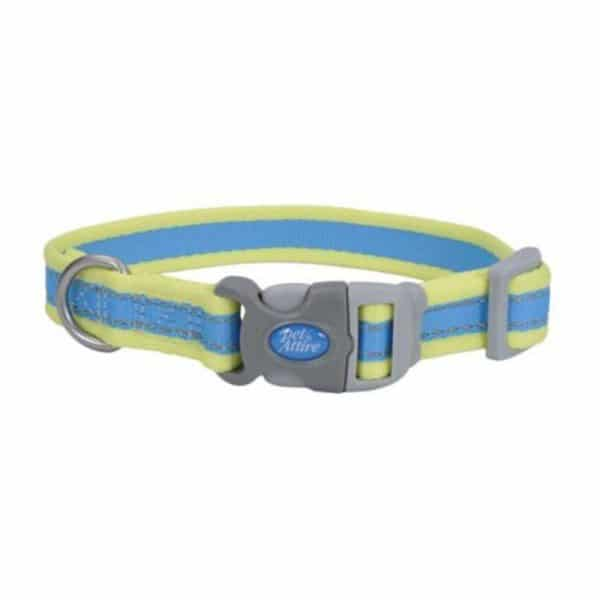 Collar-azul-con-amarillo-neon-Coastal-Pet